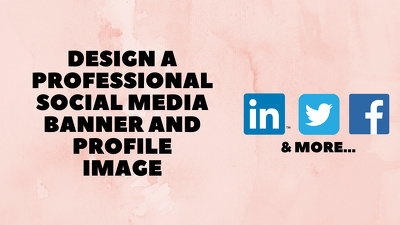 Design a professional social media banner and profile image