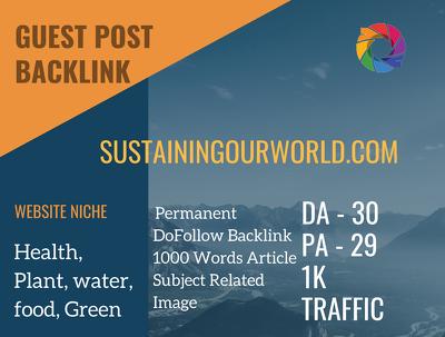 Health&Plant Related Guest post on sustainingourworld.com | DA30