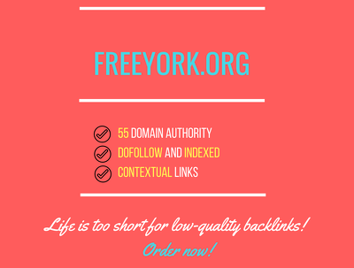 Add a guest post on freeyork.org, DA 55