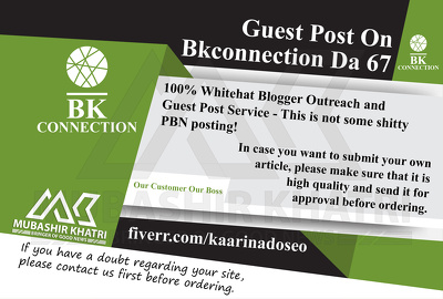 Provide Guest Post On Bkconnection.com Bkconnection DA 67