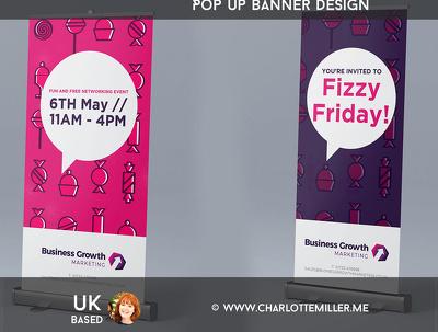 Design your roller or pop up exhibition banner