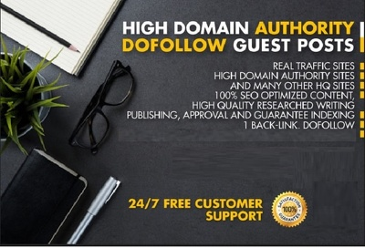 publish High Authorithy 5 Guest Posts with Dofollow Backlink
