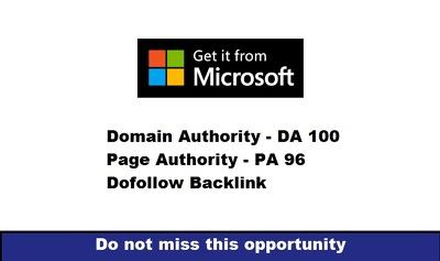 Write And Publish A Guest Post On Microsoft DA 100 PA 71