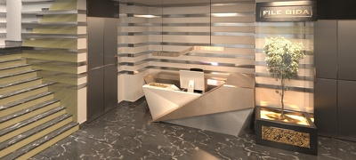 Interior design and render