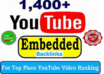 SEO backlinks to improve your youtube video ranking