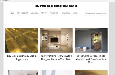 Publish guest post on interiordesignsmagazine.com DA 52