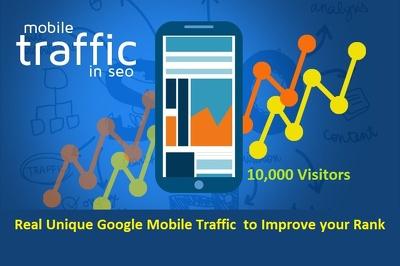 10,000 Organic Mobile Traffic Real Unique Adsense Safe