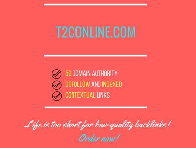 Add a guest post on  t2conline.com, DA 56