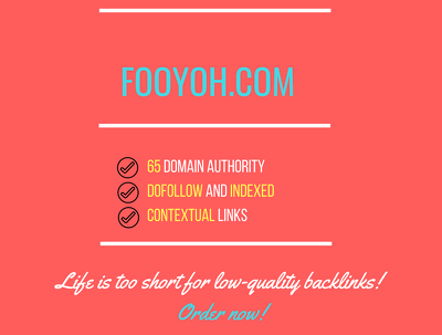 add a guest post on fooyoh.com, DA 65