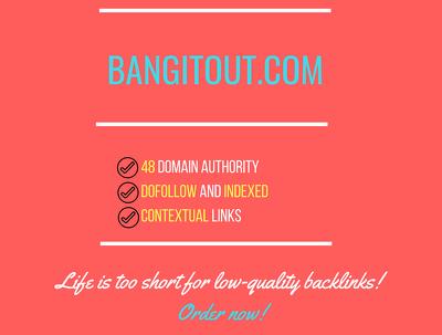 add a guest post on bangitout.com, DA 48