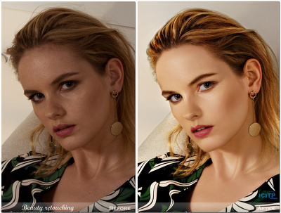 do image retouching of any 3 images