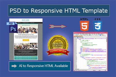 Code PSD To Responsive HTML Email Template