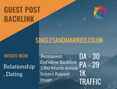 Relationship Related Guest post on singlesandmarried.co.uk|DA 30