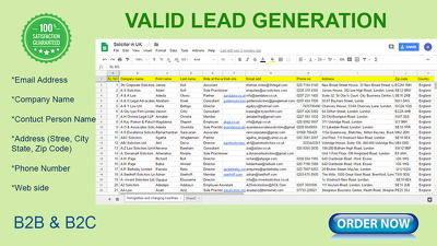 Collect 100 Verified Lead for Your Targeted Business.