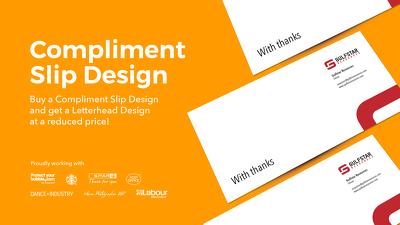 Design a compliment slip