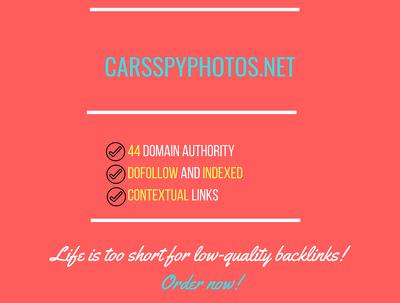 add a guest post on carsspyphotos.net, DA 44
