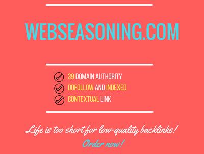 Publish a guest post on Webseasoning Webseasoning.com- DA 40