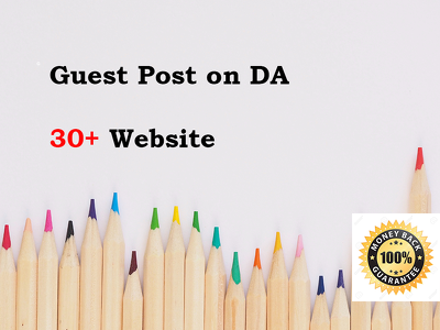 Guest Posting on 20 Website Da30 Plus