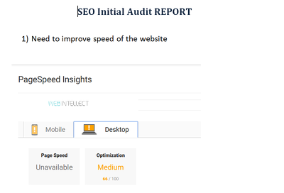in-dept SEO report: Competitors, Website and Keyword Analysis