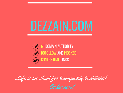 add a guest post on dezzain.com, DA 61