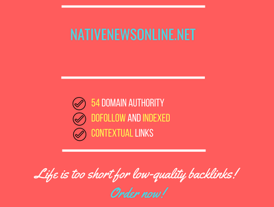 Add a guest post on nativenewsonline.net, DA 54