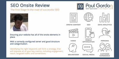 SEO Consultancy, Onsite Review, Recommend & Plan