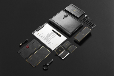 Bussiness Stationary + Source Files + Different Variations