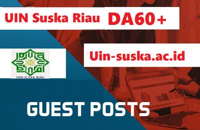Guest post on  UIN Suska Riau - suska.ac.id DA60 Blog