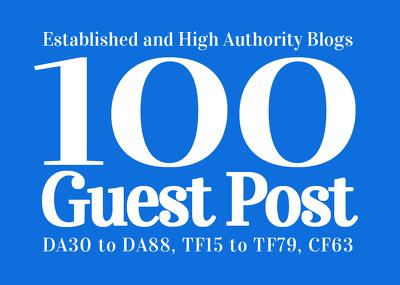 Guest Post 100 High Authority & Established Websites, DA30-95