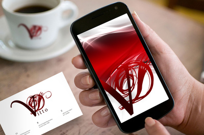 Design logo, business card, wallpaper on your smartphone/tablet