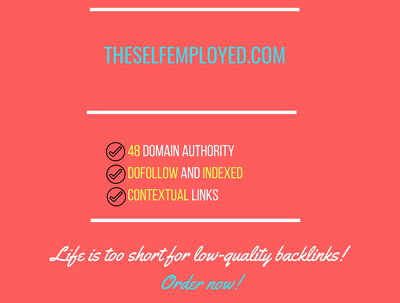 add a guest post on theselfemployed.com, DA 48