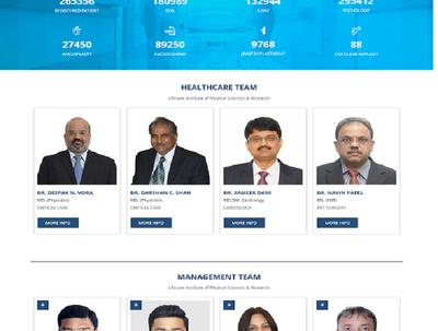 Design website for Hospital Industry