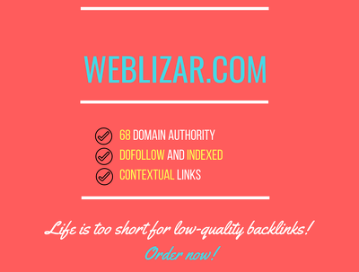 Add a guest post on weblizar.com, DA 68