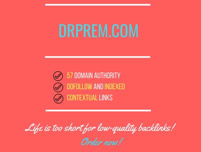 add a guest post on drprem.com, DA 57