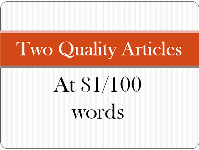 Write 2 quality 1000 words article