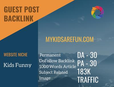 Kids Funny Related Guest post on mykidsarefun.com|DA 30