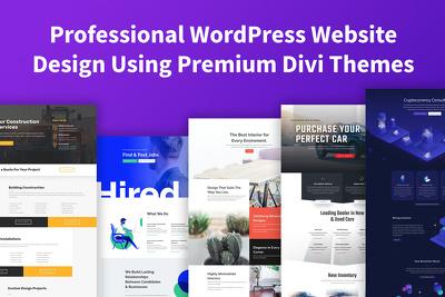 design Professional WordPress Website - Inc. Hosting & Domain