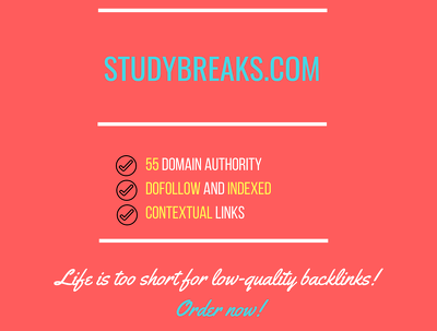 Add a guest post on studybreaks.com, DA 55