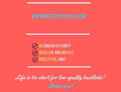 add a guest post on aspiringgentleman.com, DA 46