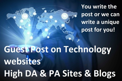 Guest post on technology and Finance blogs & websites DA45+
