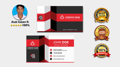 Front or back business card Design UNLIMITED Revisions
