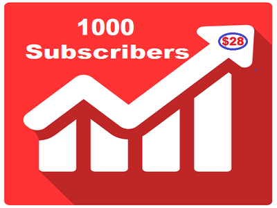 Add 1000 real and active  subs cribers to your You-tube channel