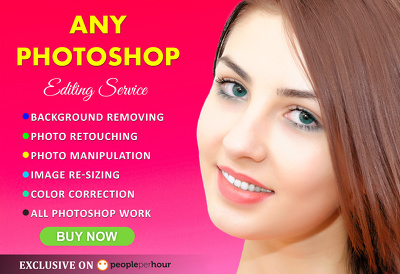 Do Photoshop editing/retouching fast ( 5 images )