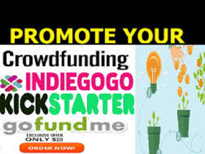 Promote your crowdfunding  Kickstarter , fundraiser or charity