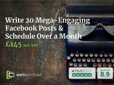 Write 20 Mega-Engaging Facebook Posts & Schedule Over a Month