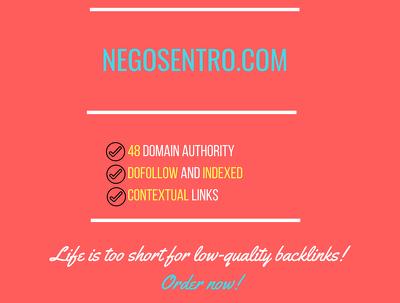 Add a guest post on negosentro.com , DA 48