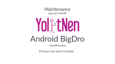 android Maintenance BigDro (monthly plan)