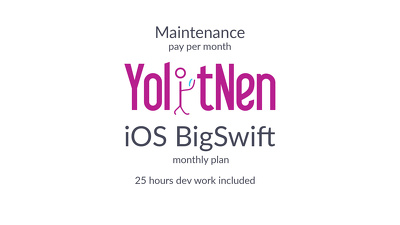IOS App Maintenance BigSwift (monthly plan)
