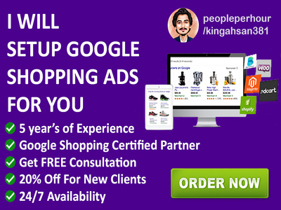 setup google shopping campaign for you