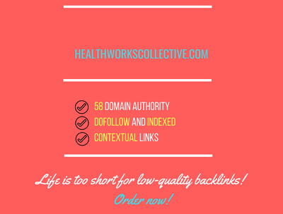 add a guest post on  healthworkscollective.com, DA 58